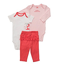 Carter's® Baby Girls' Coral 3-pc. Lady Bug Ruffle Pull-On Pants Set
