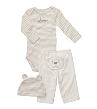Carter's® Baby Ivory 3-pc. Bear Pull-On Pants Set