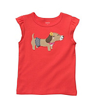 Carter's® Baby Girls' Orange Dog Applique Tee