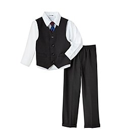 Nautica® Boys' 2T-7 Black 3-pc. Vest Set