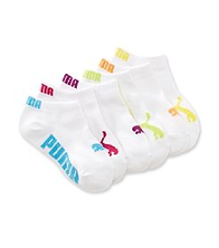 PUMA® Girls' White 6-pk. Runner Socks