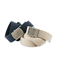 Statements Boys' Navy 2-pk. Canvas Webbed Belts
