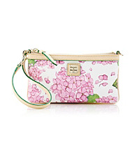 Dooney & Bourke® Pink/White Hydrangea Large Slim Wristlet