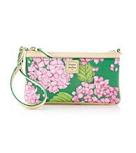 Dooney & Bourke® Large Slim Wristlet - Pink/Green Hydrangea