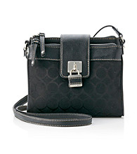 Nine West® Charcoal/Black 9's Jacquard Small Tab Crossbody
