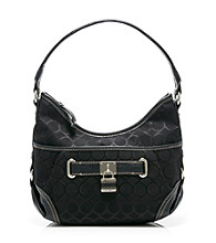 Nine West® Charcoal/Black 9's Jacquard Small Hobo