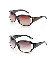 Nine West® Plastic Large Square Vented Sunglasses