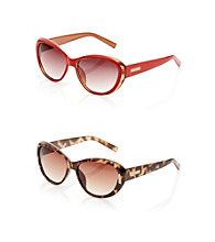 Nine West® Plastic Medium Cat Eye Sunglasses