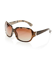 Nine West® Brown Plastic Square Metal Hinge Detail Sunglasses