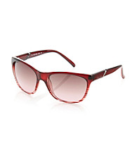Calvin Klein Red Wine Square Wayfarer Sunglasses