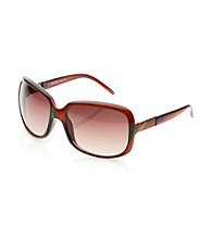 Calvin Klein Brown Square Plastic Sunglasses