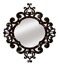 Veritime Round Scroll Mirror