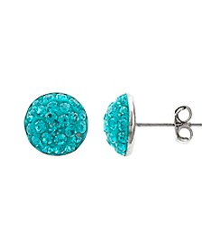 Athra Pave Crystal 1/2 Ball Post Earring