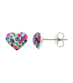Athra Crystal Heart Post Earring
