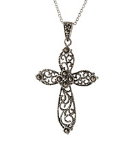 Athra Cutout Cross Pendant On 18