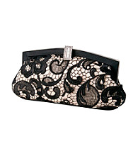 Jessica McClintock® Black Champagne Evening Bag