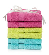 LivingQuarters 6-pk. Back to School Cotton Washcloths