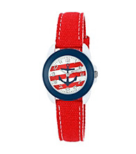 Sprout® Nautical Themed Red Organic Cotton Eco-Friendly Sprout Watch