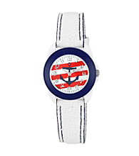 Sprout® Nautical Themed WhiteOrganic Cotton Eco-Friendly Sprout Watch