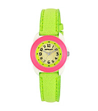 Sprout® Lime Green Eco-Friendly Organic Cotton Sprout Watch