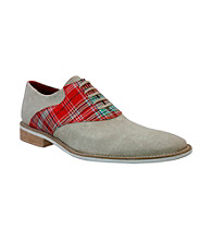 Giorgio Brutini® Men's White Bottom Plaid Saddle Oxford