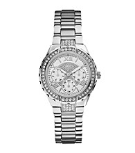 Guess Silvertone Sparkling Hi-Energy Mid-Size Watch