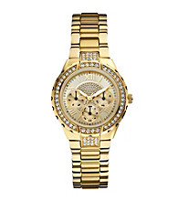 Guess Goldtone Sparkling Hi-Energy Mid-Size Watch