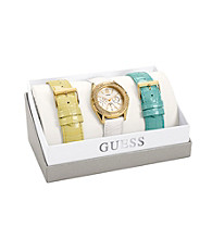 Guess Multi-Color Feminine Classic Hi-Energy Style Watch with Two Interchangeable Straps