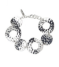 Nine West® Hammered Silvertone Bracelet