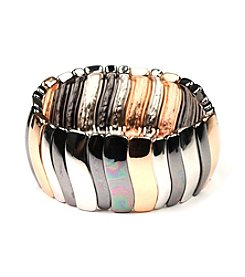 Nine West® Tri-Tone Stretch Bracelet