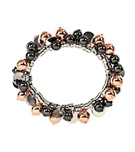 Nine West® Tri-Tone Shaky Stretch Bracelet