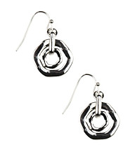 Nine West® Silvertone Orbital Drop Earrings