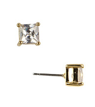 Nine West® Small Goldtone Cubic Zirconia Stud Earrings