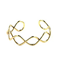 Nine West® Infinity Designed Goldtone Cuff Bracelet