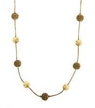 Anne Klein® Goldtone Stationed Collar Necklace