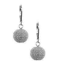 Anne Klein® Silvertone Ball Drop Earrings