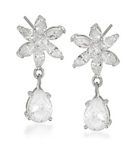 Carolee® Silvertone Debutante Ball Double Drop Pierced Earrings