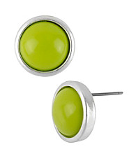 Kenneth Cole® Lime Green Round Stud Earrings
