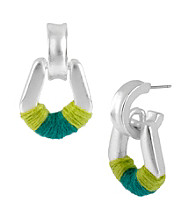 Kenneth Cole® Lime Green Door Knocker Earrings