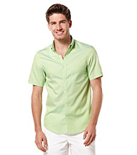 Perry Ellis® Men's Limoncello Short Sleeve Slim Solid Oxford Woven