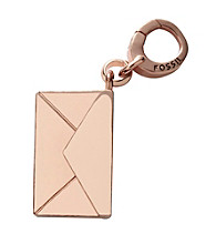 Fossil® Envelope Charm Rose Goldtone