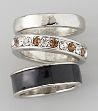 Guess Three Ring Band Set