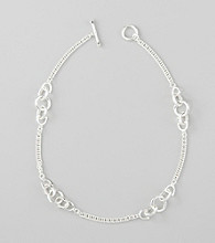 Lauren Ralph Lauren Silvertone Chain Necklace