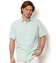 Nautica® Men's Short Sleeve Solid Twill Button Down Shirt