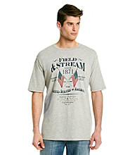 Field & Stream® Men's Grey Heather Short Sleeve Crossed Flags Graphic Tee