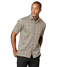 Van Heusen® Men's Khaki Plaza Textured Windowpane Woven