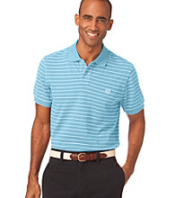 Chaps® Men's Caribbean Blue Waverly Custom Fit Striped Polo