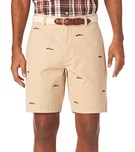 Chaps® Men's Sand Dune Embroidered Havana Fish Bone Short