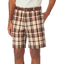 Chaps® Men's Moosewood Plaid Flat Front Short