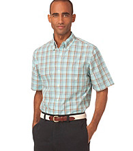 Chaps® Men's Short Sleeve Salt Marsh Plaid Woven